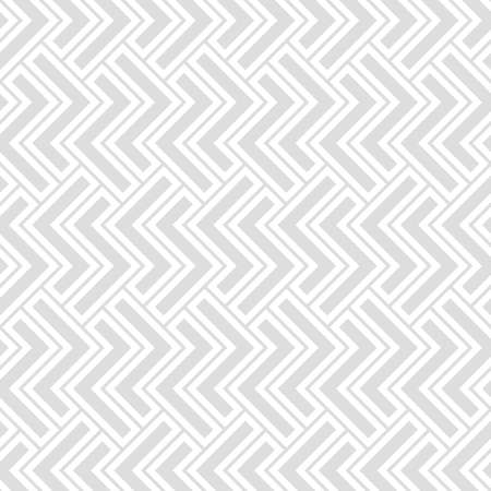 Abstract geometric pattern with stripes, lines. A seamless vector background. White and grey ornament. Simple lattice graphic design. Illustration