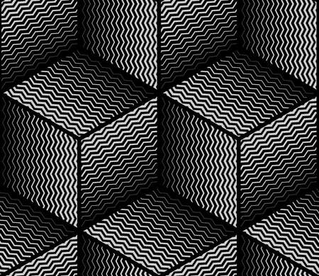 Abstract geometric pattern. Vector seamless background. Black and grey halftone. Graphic modern pattern. Simple lattice graphic design. Illustration