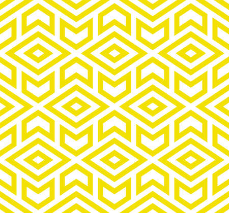 Abstract geometric pattern. A seamless vector background. White and yellow ornament. Graphic modern pattern. Simple lattice graphic design.