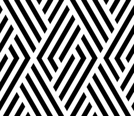 Abstract geometric pattern with stripes, lines. A seamless vector background. White and black ornament. Simple lattice graphic design