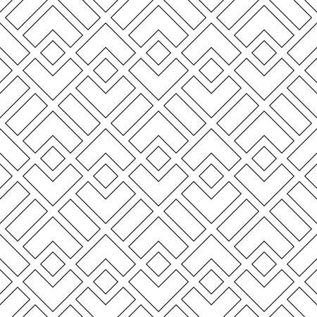 Abstract geometric pattern with lines, lines. A seamless vector background. White and grey ornament. Simple lattice graphic design Illustration