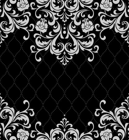 Abstract floral frame pattern. Illustration