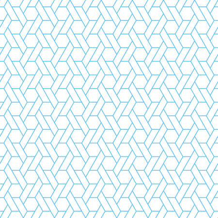 The geometric pattern with lines. Seamless vector background. White and blue texture. Graphic modern pattern. Simple lattice graphic design Illustration