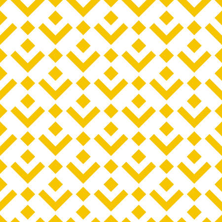 Abstract geometric pattern. A seamless vector background. White and yellow ornament. Graphic modern pattern. Simple lattice graphic design