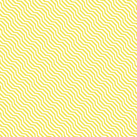 The geometric pattern with wavy lines. Seamless vector background. White and yellow texture. Simple lattice graphic design