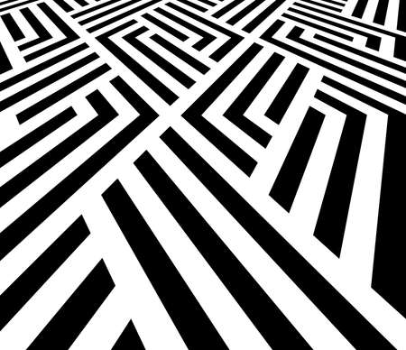 Abstract geometric pattern with stripes, lines. Vector background. White and black ornament. Simple lattice graphic design