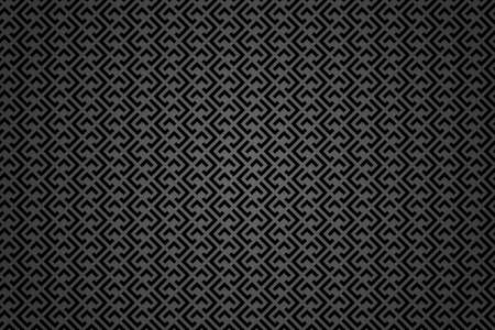 Abstract geometric pattern with lines, rhombuses A seamless background. Black texture.