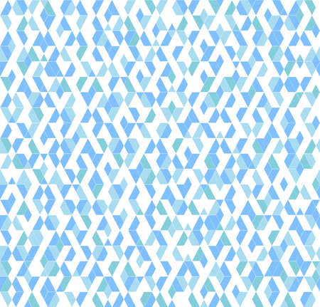 Abstract geometric pattern. A seamless vector background. White and blue ornament. Graphic modern pattern Ilustração