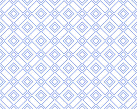 Abstract geometric pattern. A seamless vector background. White and blue ornament. Graphic modern pattern. Simple lattice graphic design 向量圖像