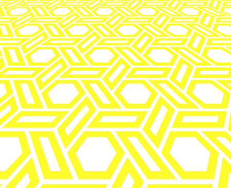 Abstract geometric pattern. Vector background. White and yellow halftone. Graphic modern pattern. Simple lattice graphic design