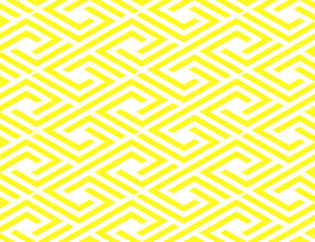Abstract geometric pattern with stripes, lines. Seamless vector background. White and yellow ornament. Simple lattice graphic design