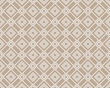 Abstract geometric pattern. A seamless vector background. White and beige ornament. Graphic modern pattern. Simple lattice graphic design Illustration