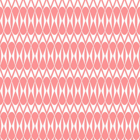 The geometric pattern with stripes . Seamless background. White and pink texture. Graphic modern pattern. Stock Photo