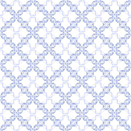 Abstract geometric pattern with rhombuses. A seamless background. Blue and white graphic pattern.