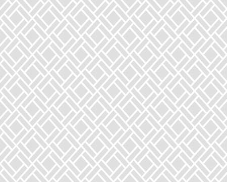 Abstract geometric pattern with squares, lines. A seamless background. Grey and white graphic pattern