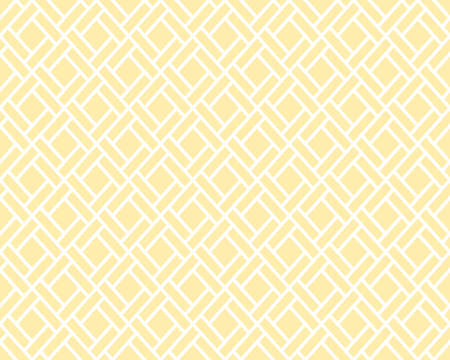 Abstract geometric pattern with squares, lines. A seamless background. Beige and white graphic pattern 写真素材