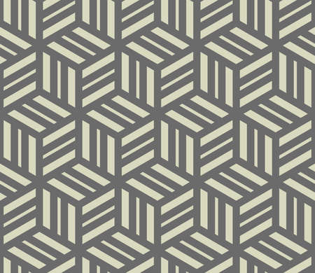 Abstract geometric pattern with stripes, lines. Seamless vector background. Grey ornament. Simple lattice graphic design