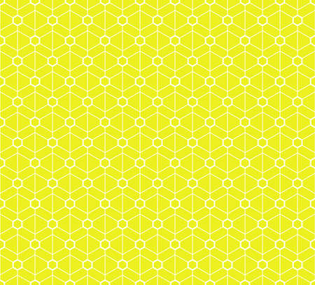Abstract geometric pattern. A seamless background. White and yellow texture. Graphic modern pattern