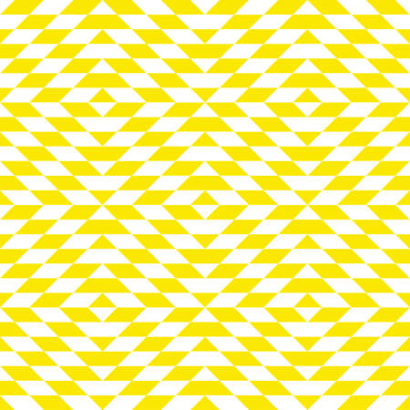 Abstract geometric pattern with rhombuses. A seamless background. White and yellow texture. Graphic modern pattern