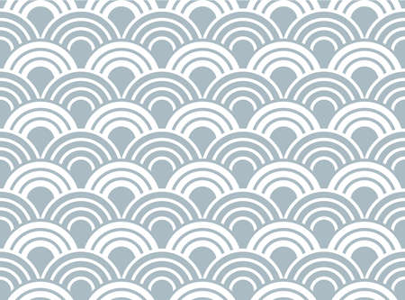 The geometric pattern with wavy lines. Seamless vector background. White and blue texture. Simple lattice graphic design  イラスト・ベクター素材