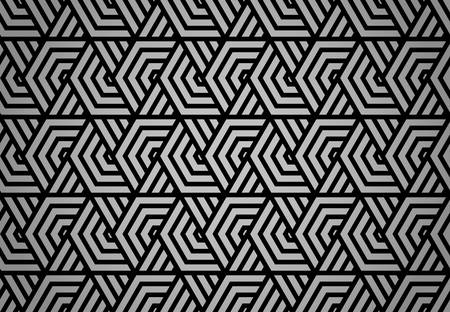 Abstract geometric pattern with stripes, lines. Seamless vector background. Black ornament. Simple lattice graphic design Vectores