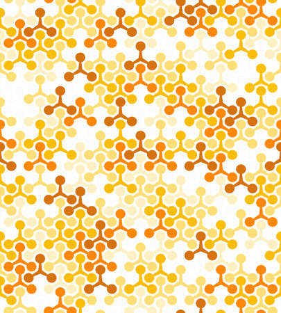 Abstract geometric pattern with points. A seamless background. White and yellow ornament. Graphic modern pattern Stock Photo