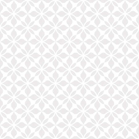Flower geometric pattern. Seamless background. White and grey ornament. Imagens