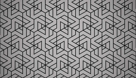 The geometric pattern with lines. Seamless vector background. Black texture. Graphic modern pattern. Simple lattice graphic design Vectores