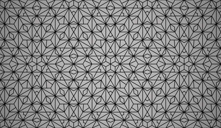The geometric pattern with lines. Seamless vector background. Black texture. Graphic modern pattern. Simple lattice graphic design Illustration