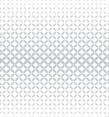 Abstract geometric pattern with circles. A seamless background. White and grey ornament. Graphic modern pattern