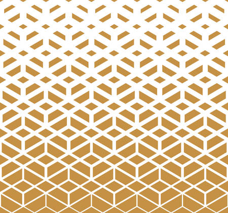 Abstract geometric pattern. Vector background. White and gold halftone. Graphic modern pattern. Simple lattice graphic design