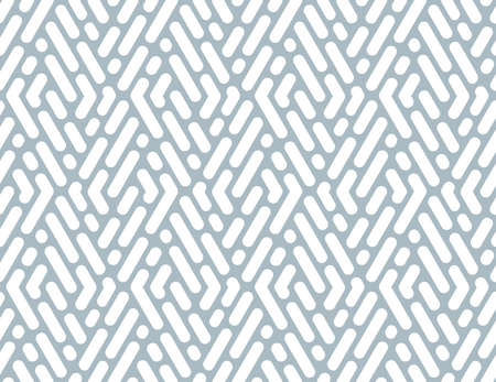 Abstract geometric pattern with stripes, lines. Seamless vector background. White and blue ornament. Simple lattice graphic design Vector Illustration
