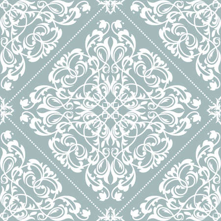 The geometric pattern with wavy lines. Seamless background. White and blue texture
