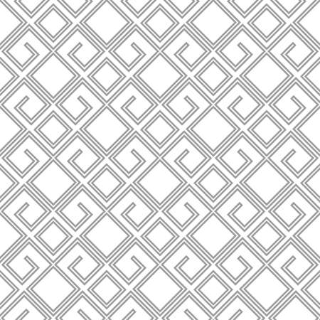 Abstract geometric pattern with lines. A seamless background. White and grey ornament. Graphic modern pattern. Stock Photo