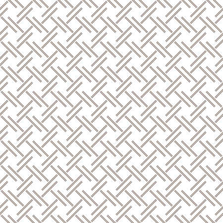 Abstract geometric pattern. A seamless background. White and grey ornament. Graphic modern pattern. Stock Photo