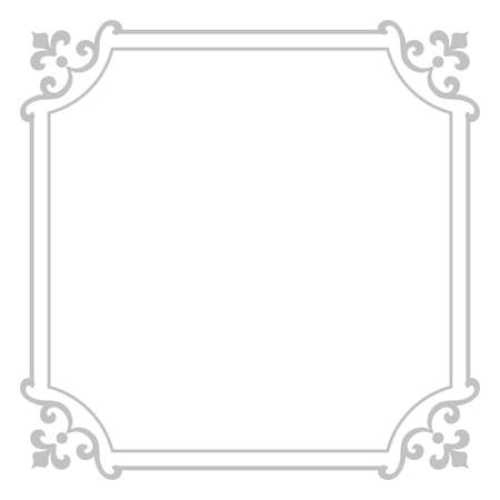 Decorative frame Elegant vector element for design in Eastern style, place for text. Floral grey border. Lace illustration for invitations and greeting cards 向量圖像