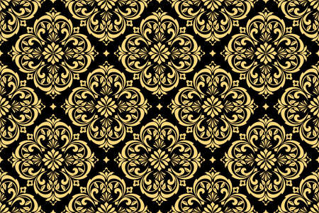 Wallpaper In The Style Of Baroque Seamless Background Gold Stock
