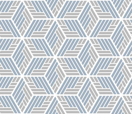 Abstract geometric pattern with stripes, lines. A seamless background. White and blue ornament
