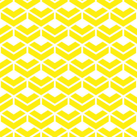Abstract geometric pattern. A seamless background. White and yellow ornament. Graphic modern pattern Stock Photo