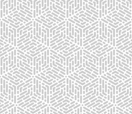 Abstract geometric pattern with stripes, lines. Seamless vector background. White and grey ornament. Simple lattice graphic design. Vektorové ilustrace
