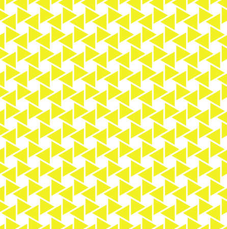 The geometric pattern with triangles. Seamless background. Yellow and white texture. Stylish graphic pattern.