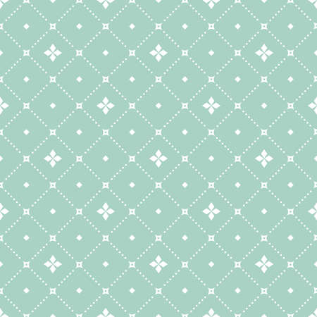 Abstract geometric pattern. A seamless background. White and blue ornament. Graphic modern pattern Stock Photo