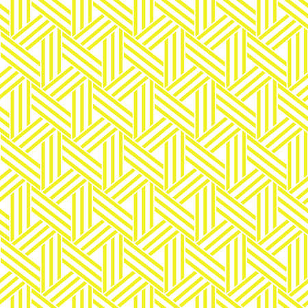 Abstract geometric pattern with stripes, lines. A seamless background. White and yellow ornament Stock Photo