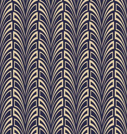 Patrón geométrico abstracto. Un fondo transparente. Adorno azul y dorado. Patrón gráfico moderno. Diseño gráfico de celosía simple Foto de archivo