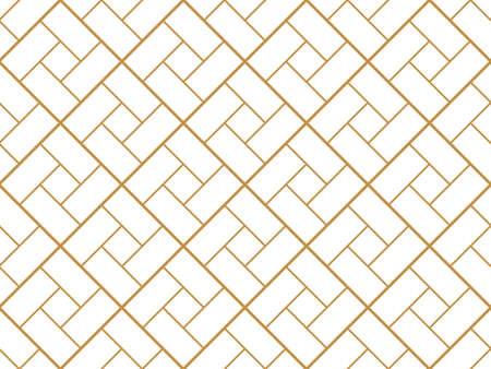 Le motif géométrique avec des lignes. Texture blanche et or. Motif graphique moderne. Conception graphique en treillis simple Vecteurs