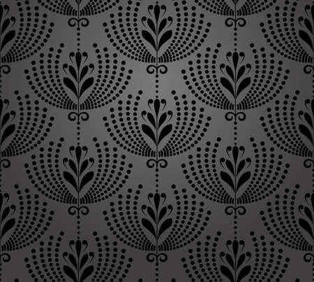 Flower geometric pattern. Seamless background. Black ornament. Ornament for fabric, wallpaper, packaging. Decorative print Stock fotó