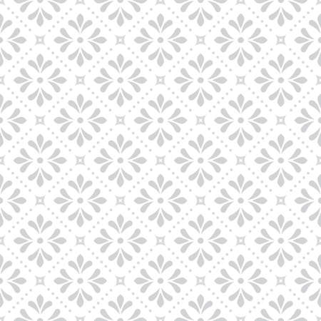 Flower geometric pattern. Seamless background. White and grey ornament. Ornament for fabric, wallpaper, packaging. Decorative print,