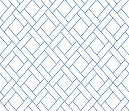 The geometric pattern with lines. Seamless background. White and blue texture. Graphic modern pattern. Simple lattice graphic design Stock Photo