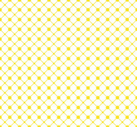 The geometric pattern with lines. Seamless background. White and yellow texture. Graphic modern pattern. Simple lattice graphic design Stock Photo