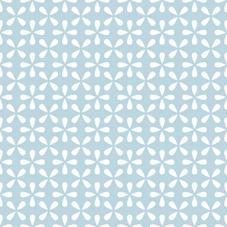 Flower geometric pattern. Seamless background. White and blue ornament. Ornament for fabric, wallpaper, packaging. Decorative print Imagens